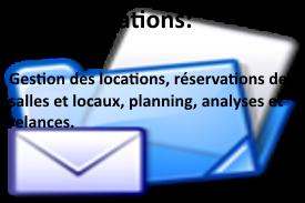 Logiciel de gestion de location de salles. Gestion des réservations, du planning type Outlook.